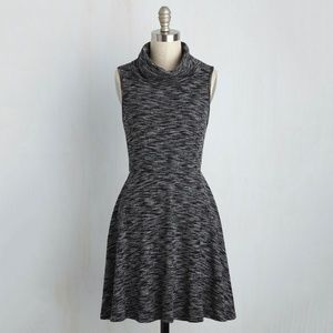 Modcloth Gray/Black cowl neck sleeveless dress